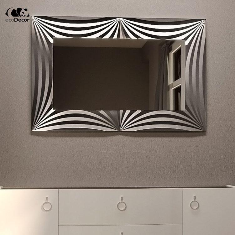 Зеркало в прихожую серебряное Amaro