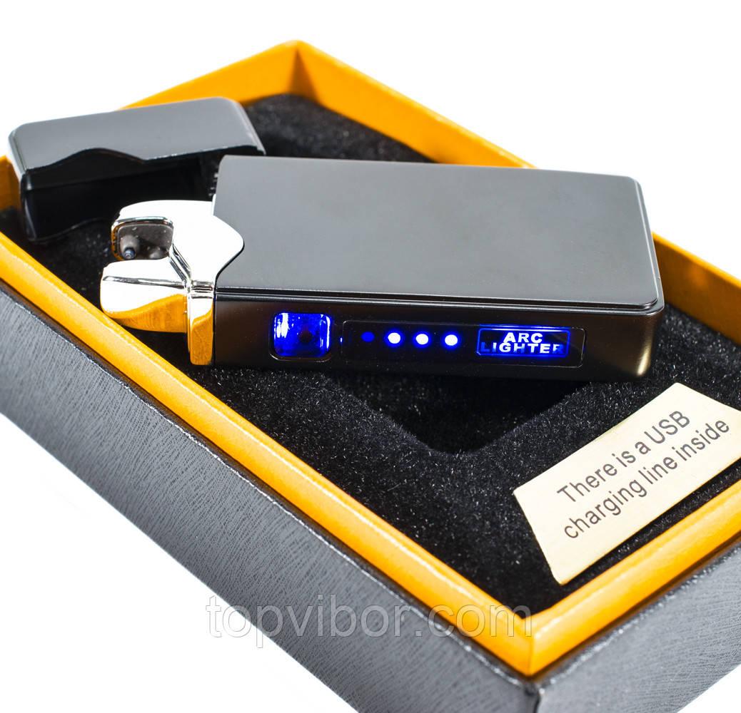 Зажигалка электродуговая от ЮСБ (ZGP 23 Глянец) электрозажигалка дуговая аккумуляторная