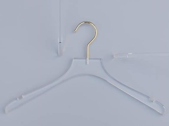 Плечики серия  Сristallo акриловые кристально прозрачные, длина 37,5 см, Mainetti Group Италия, фото 2