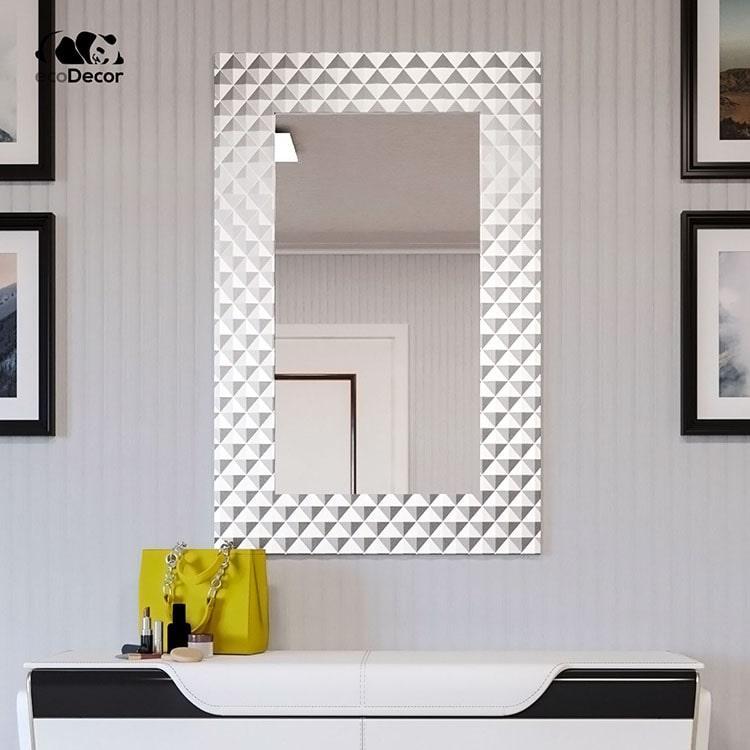 Зеркало в ванную серебряное Duno