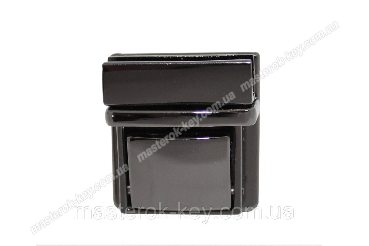 Замок сумочный 65-057 размер 29*39мм цвет Темный никель
