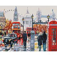 Алмазная живопись мозаика по номерам на холсте 40*50см BrushMe GJ1724 Улица Лондона