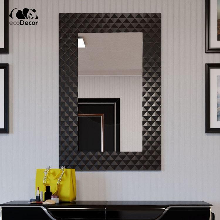 Зеркало в ванную черное Duno P1