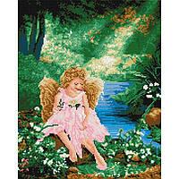Алмазная живопись мозаика по номерам на холсте 40*50см BrushMe GJ3879 Ангелок