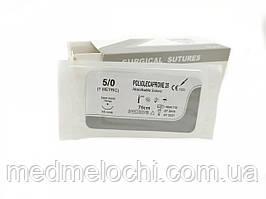 Поліглекапрон USP 5/0 (EP 1) з кол. голкою 15мм 3/8 кола
