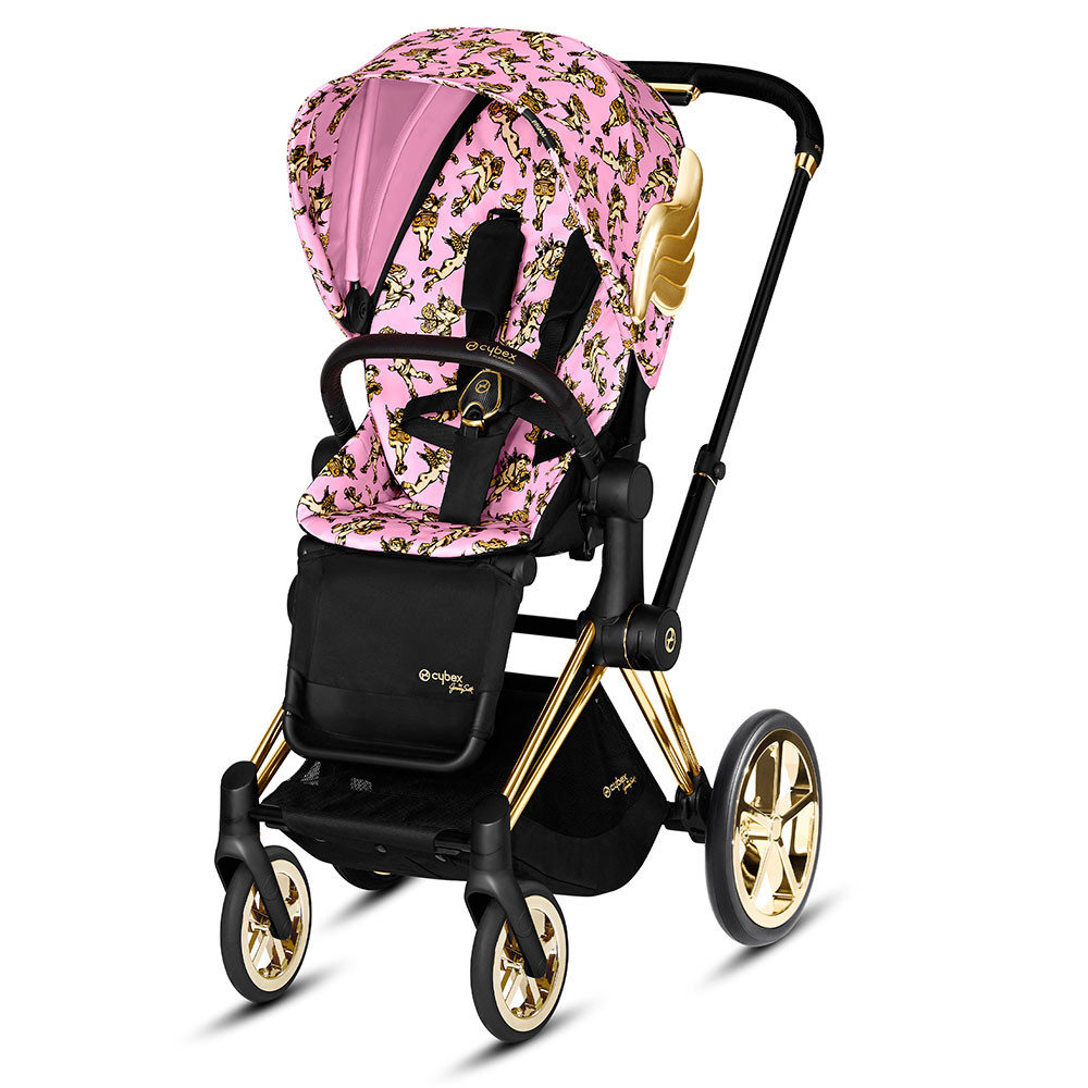 Прогулянкова коляска Cybex Priam by Jeremy Scott (Cherub Pink pink) (Сайбекс Пріам)