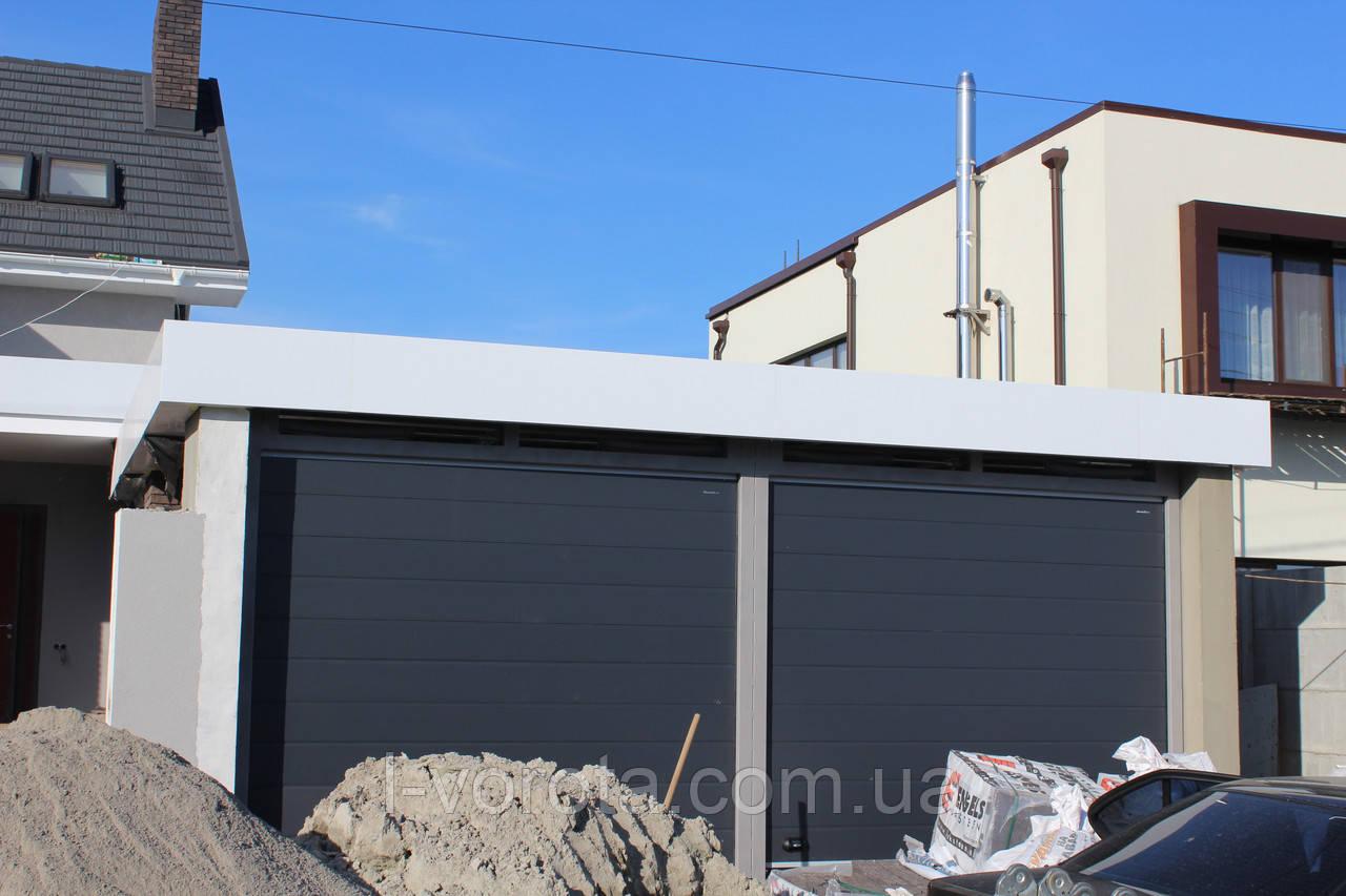 Подьемные ворота в гараж DoorHan 2500×2500 (цвет сатингрей)