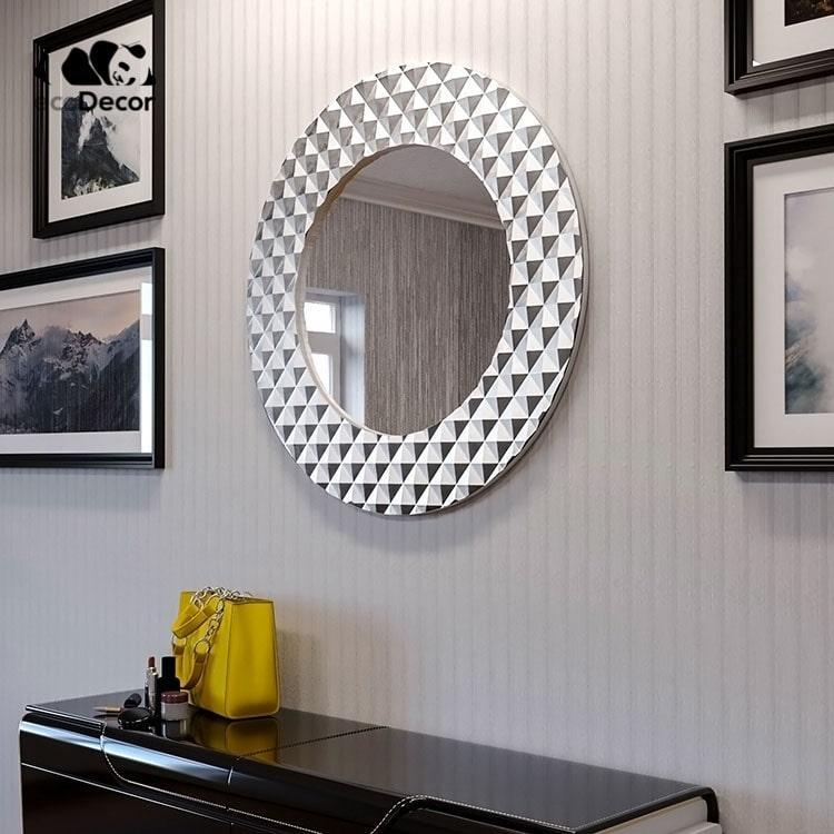 Зеркало в ванную серебряное Dublin