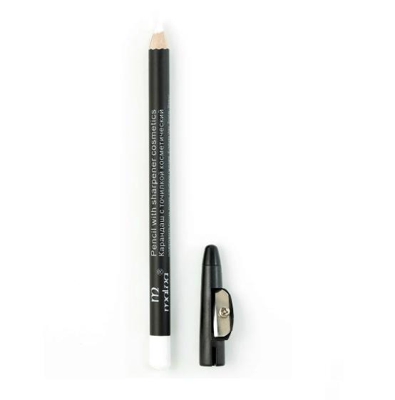 Білий олівець для очей, брів, губ з точилкою. Malva М-313 №19