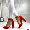Код 1040 Босоножки Mi lady Цвет: красный Материал: эко-замш Каблук: 10 см Размерность: 35-40 (в размер)