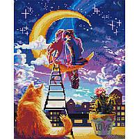 Алмазная живопись мозаика по номерам на холсте 40*50см BrushMe GJ3915 Влюблённые мечтатели