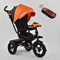 Трехколесный детский велосипед Best Trike 6088 F (2020) (надувные колеса & фара & поворот & сладной руль)