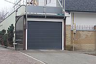 Секционные ворота в гараж DoorHan ш2400, в1900 (цвет сатингрей), фото 3
