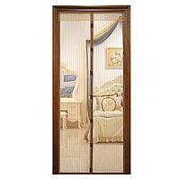 Антимоскитная магнитная шторка. Магнитная сетка штора на дверь от комаров и мух 210 х 100