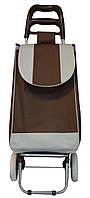 Сумка дорожная, Коричневого цвета, тележка Двухцветная  🎁%🚚, Хозяйственные сумки и тележки