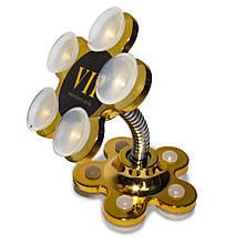 Авто-держатель для телефона в машину на присосках XP 22 Gold (Цветок) крепление для смартфона, Держатели для