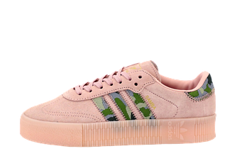 Женские кроссовки adidas Samba (адидас самба) бежевые