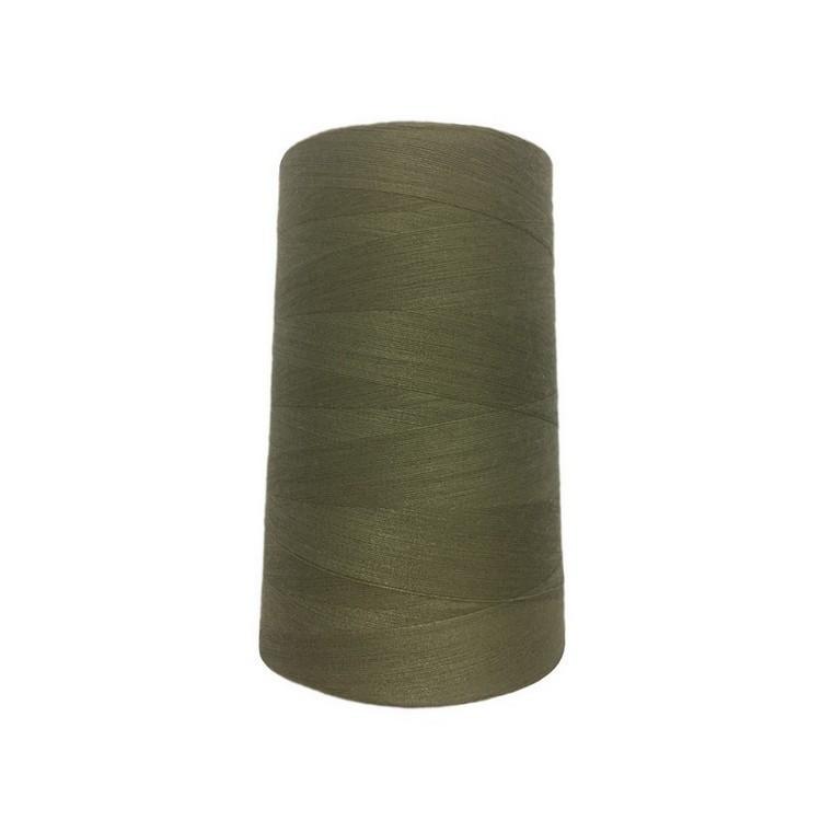 Нить швейная 100% PE 50/2 цв S-886 хаки светлый (боб 4000ярдов/12боб/120боб) NITEX
