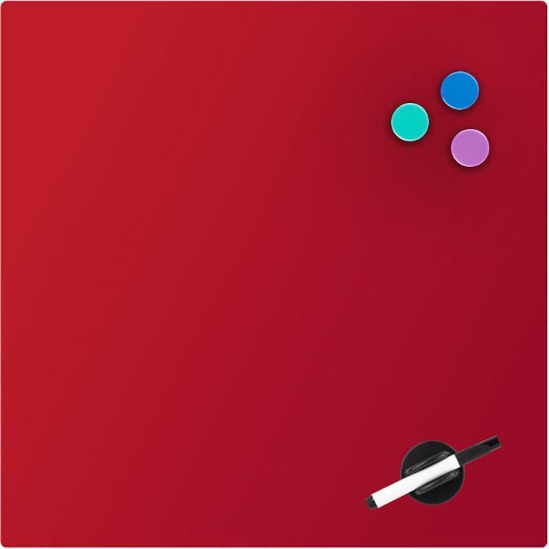 Доска стеклянная магнитно-маркерная Axent 45 х 45 см красная