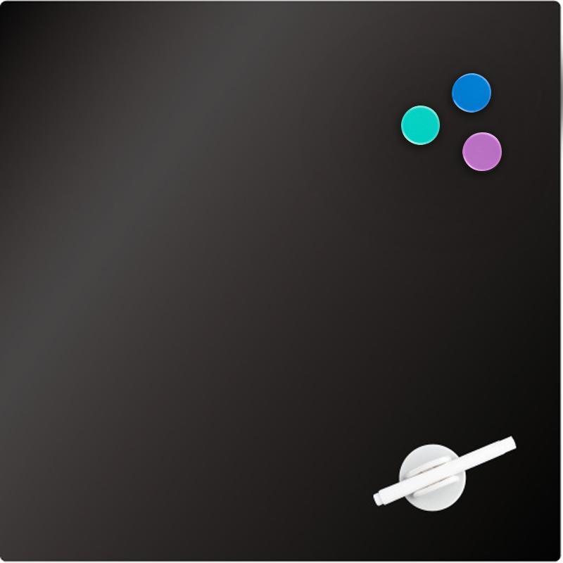Доска стеклянная магнитно-маркерная Axent 45 х 45 см чёрная