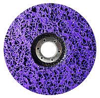 """Круг зачисний Polystar Abrasive """"Водорості"""" з неткан. абразиву, фіолетовий, 125*22 мм (PAF125-22)"""