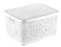 Ящик для хранения Elif Plastik Ажур 44х23х33 см белая