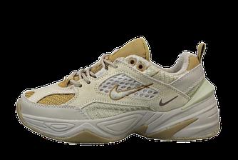 Мужские кроссовки Nike M2K Tekno (найк техно) бежевые