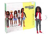 Кукла Создаваемый мир Creatable World Deluxe Character Kit Customizable Doll original черные косички