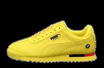 Мужские кроссовки Puma Roma BMW (пума рома) желтые