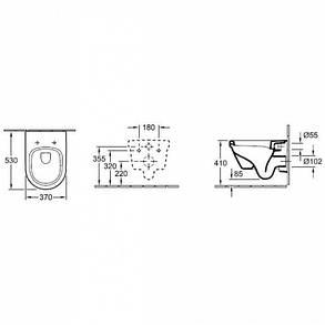 Подвесной унитаз VILLEROY & BOCH ARCHITECTURA Directflush + инсталяция Geberit Duofix, фото 2
