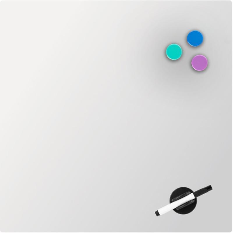 Доска стеклянная магнитно-маркерная Axent 45 х 45 см белая