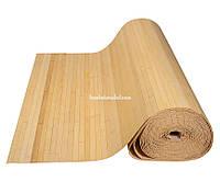Бамбуковые обои,10х2,5м, светлые, полоса 17мм