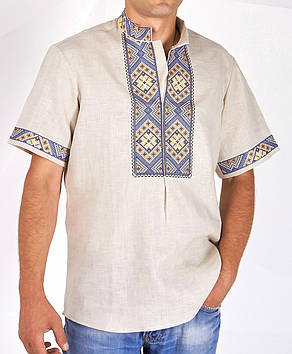 Чоловіча вишита сорочка великого розміру (S-3XL)