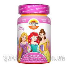 Детские витамины Sundown Naturals Kids, Disney Princess 60 Gummies