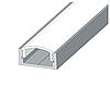 Профіль алюмінієвий + розсіювач матовий ,анодований 2м ЛП-7
