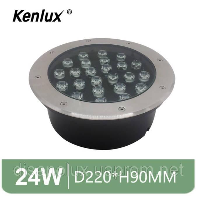 Світильник грунтовий K-2802 LED 24W 230V розмір 220мм * 90мм IP65 6500K