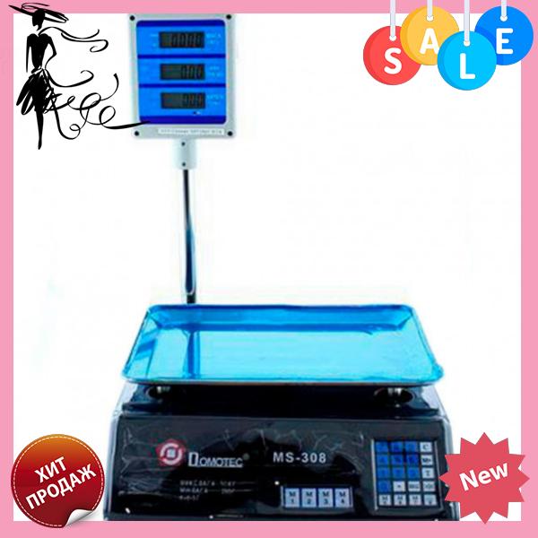 Электронные торговые весы Domotec ACS MS 308 50kg/5g + pole