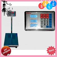 Электронные торговые весы ACS 300-350 кг 40*50 Fold Domotec 6V с железной головой, фото 1