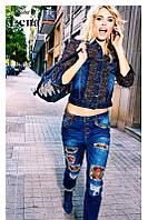 Куртка женская  джинсовая в пайеткахDesigual, фото 1