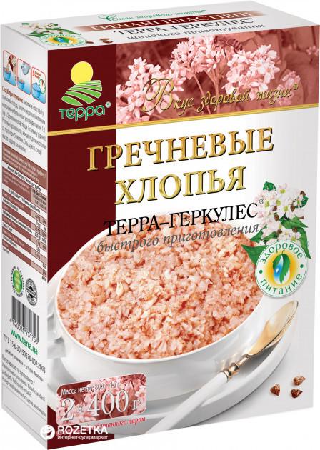 """Пластівці Гречані """"Терра"""" 0,8 кг швидкого приготування"""