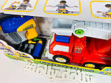 Пожарная машина-конструктор Play Smart 1983 с шуруповертом, фото 3