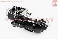 Двигатель скутерный в сборе 4Т-80куб (длинный вариатор, короткий вал) ВЕЛОТОП