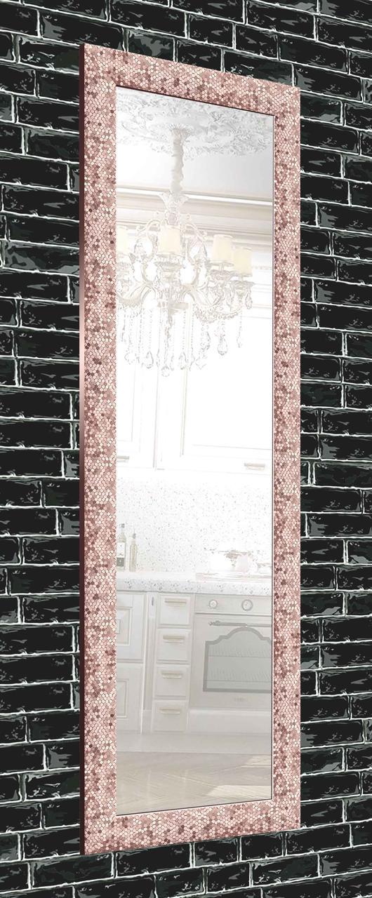 Зеркало настенное в раме Factura Pink beehive 60х174 см розовое