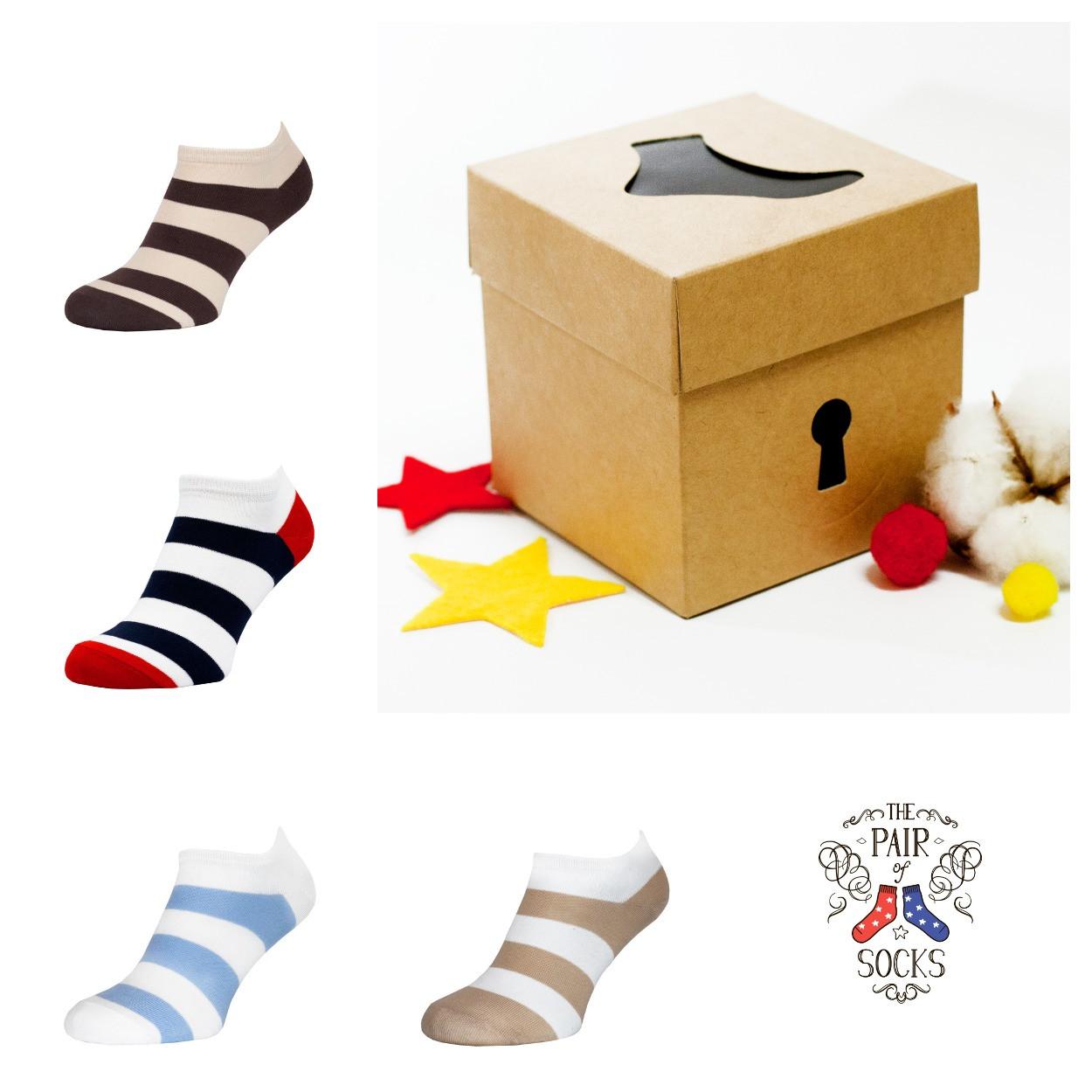 Набір коротких шкарпеток з малюнком Stripe mini Small