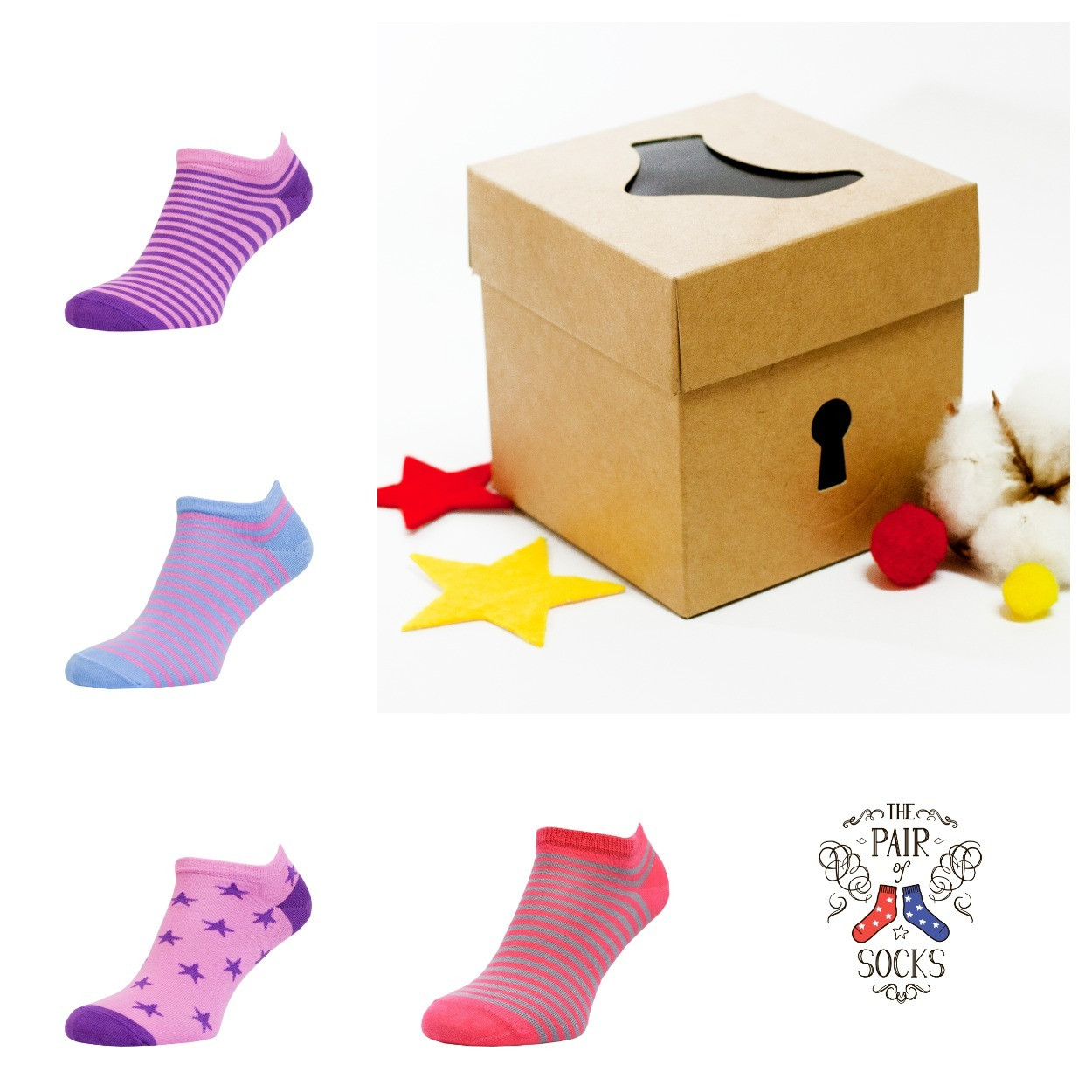 Набор коротких носков с рисунком  Pink mini Small