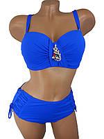 Купальник бандо анжелика Sisianna 39201 ярко-синий на 48 50 52 54 56 размер