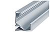 Комплект. Профіль кутовий алюмінієвий LED ЛПУ17 17х17 анодований (палиця 2м) + розсіювач
