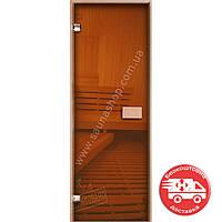 Двери стеклянные для бани 700*2000 Бронза