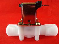 """Електромагнітний клапан 1/2"""" 24В DC нормально-закритий пластик, фото 1"""