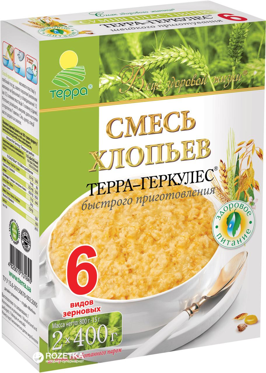 """Пластівці Суміш 6-злаків """"Терра"""" 0,8 кг"""